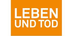 Logo LEBEN UND TOD Publikum (orange)