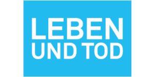 Logo LEBEN UND TOD Freiburg (blau)